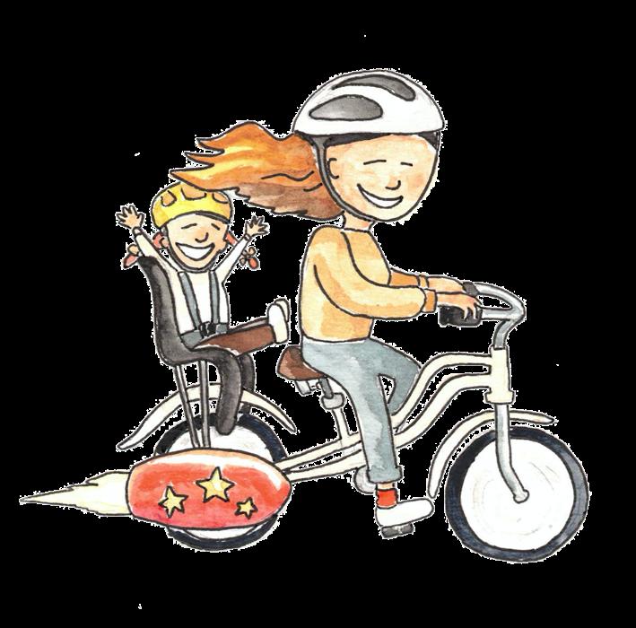 Rocket bike illustration